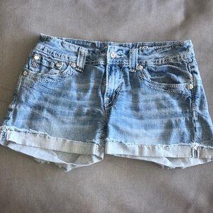 Miss Me Jean Shorts ~ Blue Jean Shorts